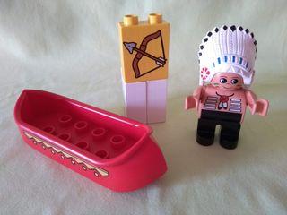 Lego Duplo . Jefe indio en canoa