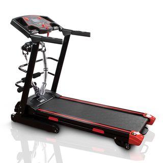 Cinta de correr profesional de gimnasio con pesas