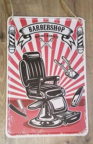 Cartel decoración Barbería y Peluquería