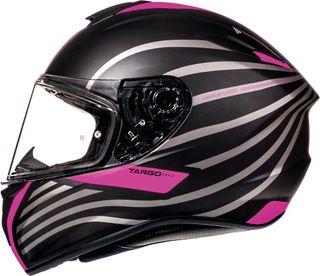 Casco moto integral Mt targo rosa