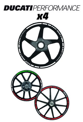 DUCATI PERFORMANCE vinilo llantas-sticker wheel