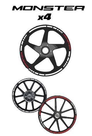 DUCATI MONSTER vinilo llantas-sticker wheel-DM