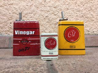 Colección aceite sal y vinagre vintage