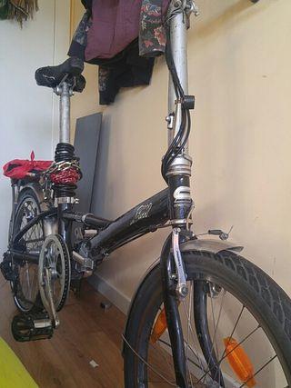 Bicicleta plegable CONOR Zippy negra adulto