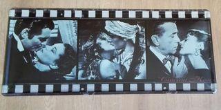 Cartel decoración grande. Besos de película.