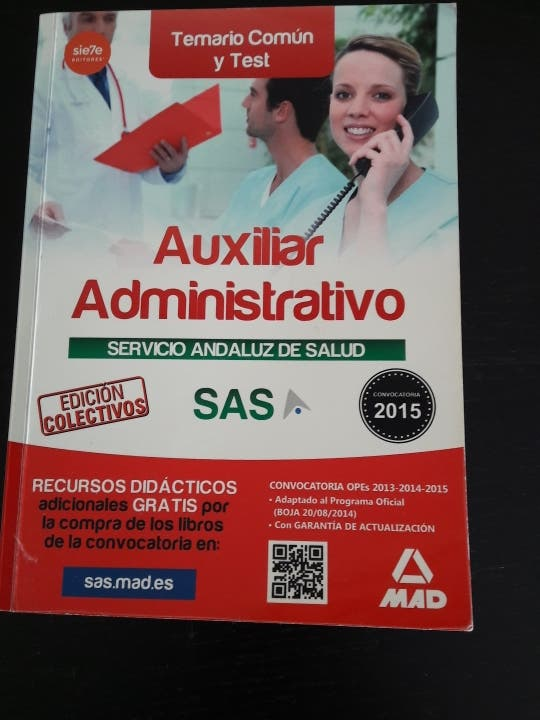 Temario Auxiliar Administrativo SAS