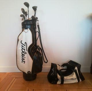 palos de golf y bolsa Titleist/Fitleist y Mizuno