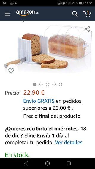 CORTADOR Y CONSERVADOR PAN DE MOLDE