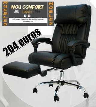 silla de oficina con reposapiés extraible
