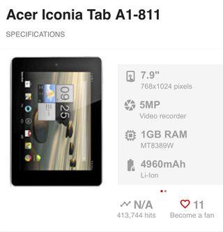 Tablet Acer Nueva en caja