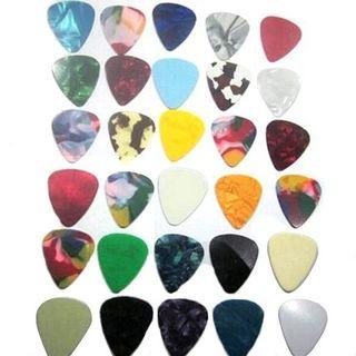 Púas guitarra de colores