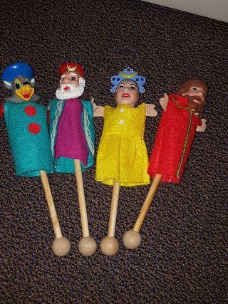 Marionetas lote cuatro unidades.