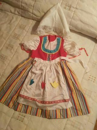 Disfraz tirolesa niña 2-3 años
