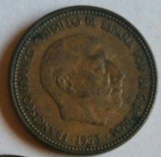 moneda 2'50 céntimos 1953 la más buscada