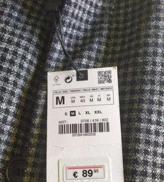 abrigo zara hombre