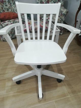 silla giratorio escritorio lacada blanco