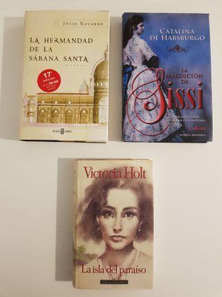 Tres libros escritos por mujeres famosas.