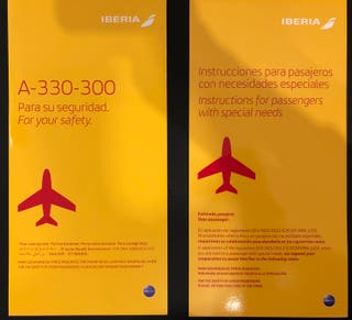 SAFETY CARD - IBERIA Airbus A330-300 + SPECIAL