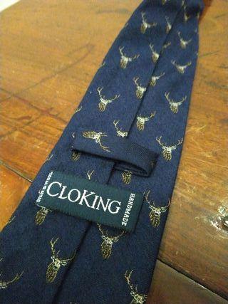 Corbata cloking lana y seda nueva
