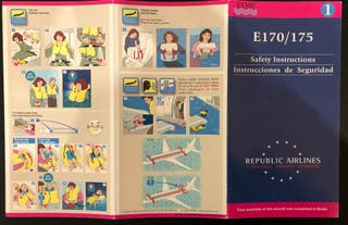 SAFETY CARD - Republic Airlines Embraer E-170/175