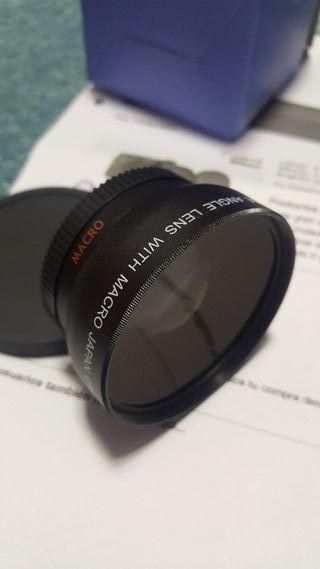 Lente 2 en 1 para objetivos Canon de 58mm o Nikon