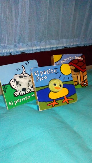 lote de 3 libros infantiles marioneta peluche