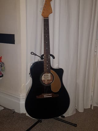 Fender Sonoran thinline black, electroacoustic