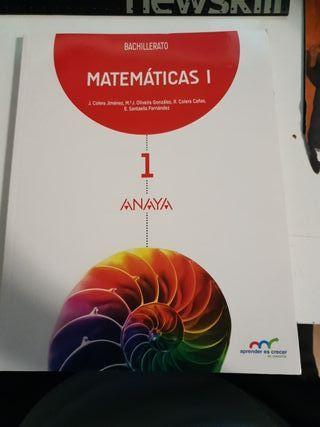 libro de matematicas 1°Bachillerato