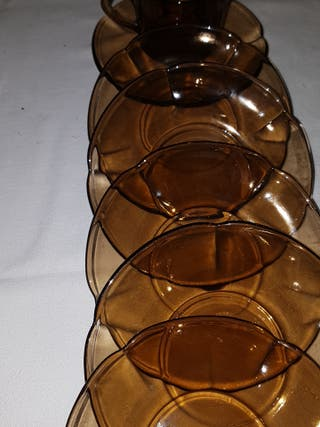 Piezas de duralex sueltas 6 platos y 1 taza