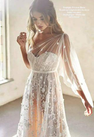 Precioso Vestido de novia a medida .Alta costura