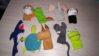 Marionetas de dedos animales