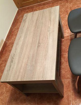 Mesa comedor + mesa te + 4 sillas