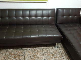 sofá cama poli piel