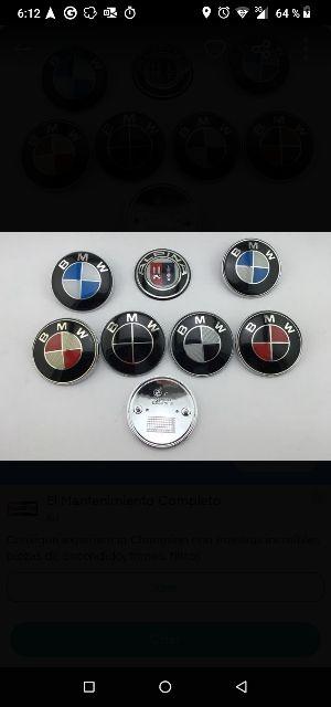 anagramas, emblemas de BMW y otras marcas de coche