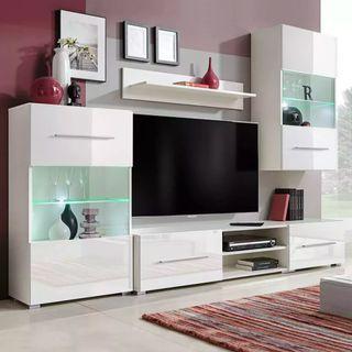 Mueble de salón 240 cm con iluminación LED