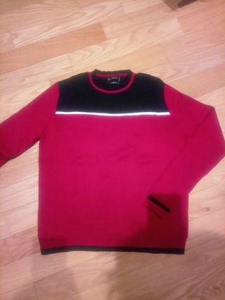Jersey rojo azul marino colección après ski Zara