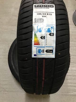 2 Neumáticos 195 55R15 85H Firestone Roadhawk