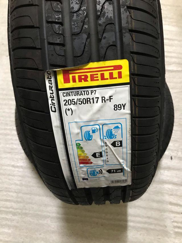 2 neumáticos 205 50R17 89Y Runflat Pirelli