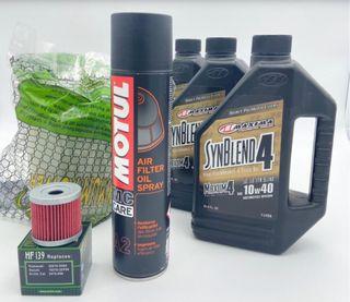Promo aceite /filtro aire / filtro aceite ltz 400