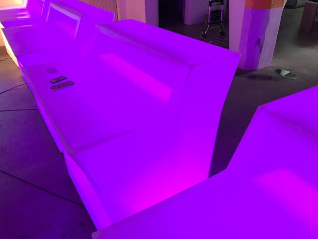 Mostradores y barras de led