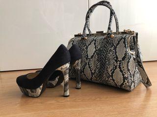 Conjunto bolso y zapatos T. 37
