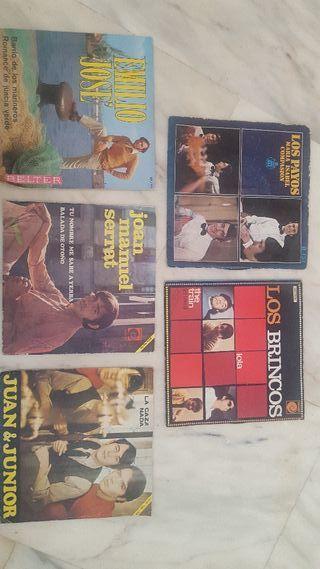 Discos de vinilo años 60.