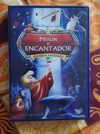 Peliculas dvd dibujos merlín el encantador