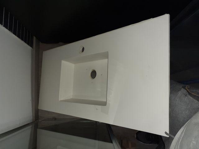 Lavabo de fibra para mueble de baño