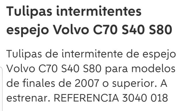 intermitentes volvo