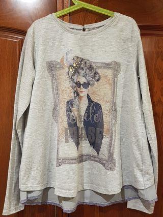 Camiseta gris MAYORAL Talla 16