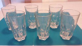 Juego de 18 vasos de cristal