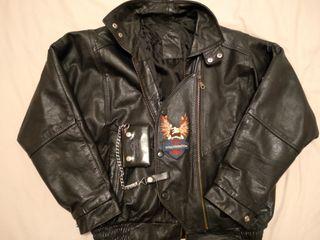 chupa de cuero antigua Harley Davidson
