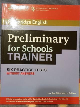 Libro de inglés/ PET