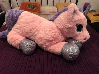 Peluche unicornio gigante rosa